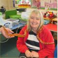 Mrs Pearson enjoyed holding the corn snake