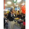 'Buenos Dias' singing train with Senora Cooke