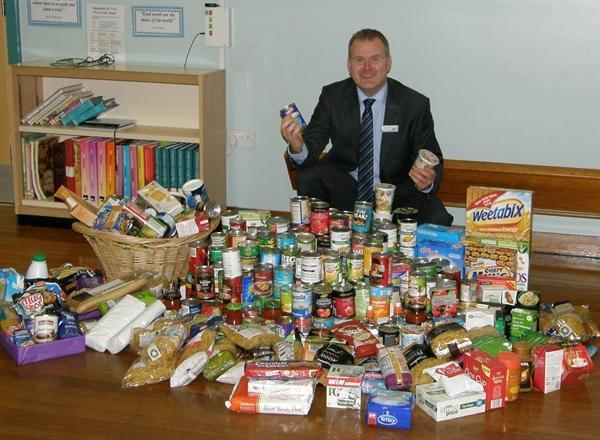 Foodbank collection at Harvest