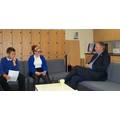 Year 6 reporters interview John Mann