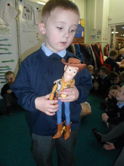 Woody has got snakes in his boots!