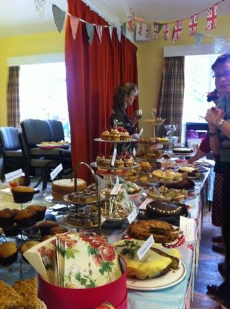 our vintage tea table, groaning with homebakes
