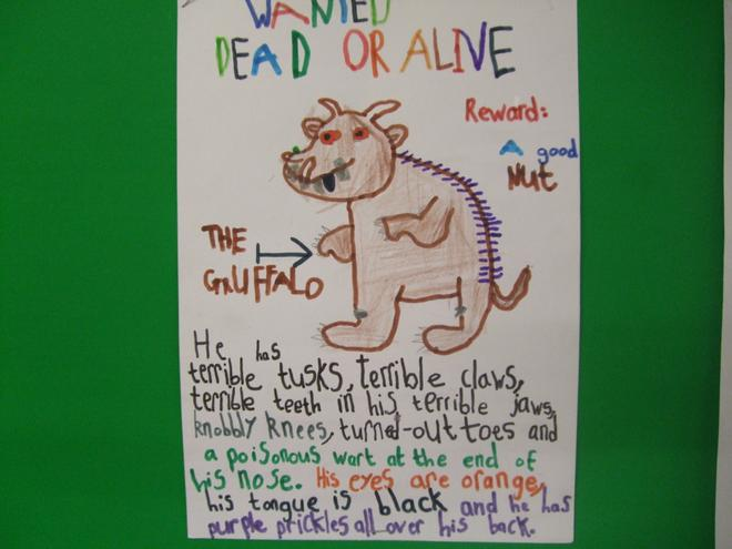 Primary 3 The Gruffalo Wanted Poster