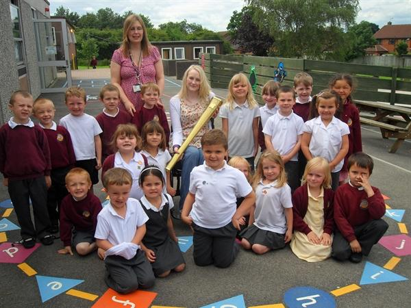 Miss Brown's class meet an Olympic Torchbearer