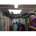 Our pteranadons flying through the corridor!