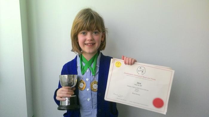Rose - Violin - 1st prize (twice!)