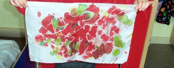 Silk painting at Rufford