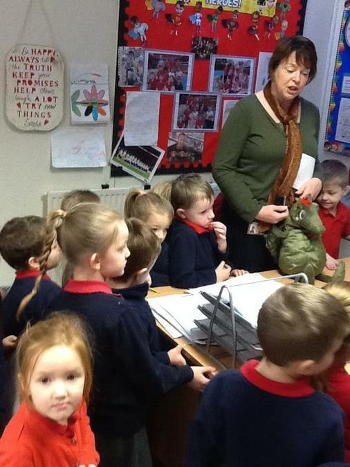 ..a dragon in Mrs Harper's Office!