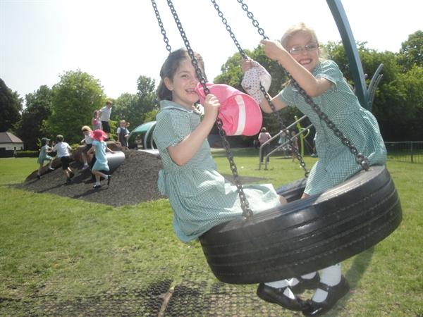 It's a tyre swing!