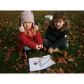 Making stick skeletons with our friends