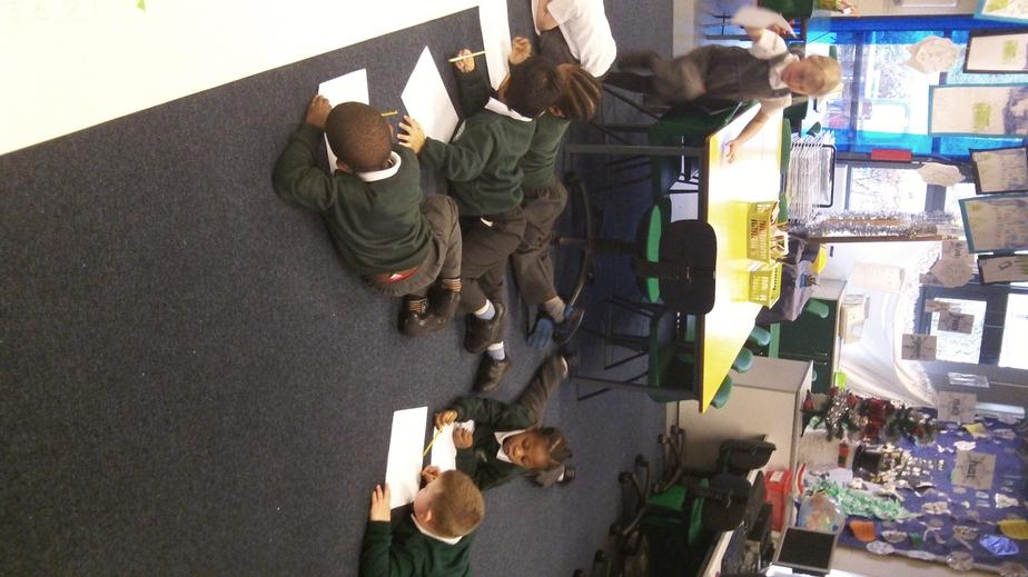The children used the story map to help them write