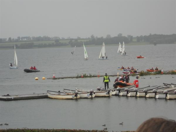 Olympic torch visit to Rutland Water
