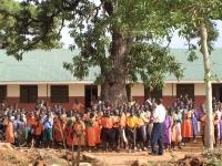Registration at African school
