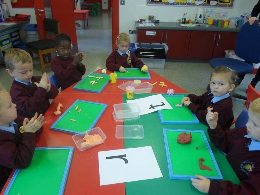 Making Letters with dough