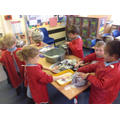 We made paper mâché planets