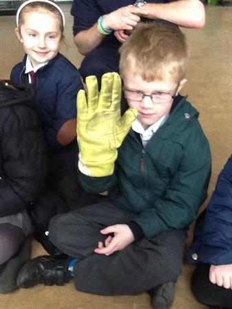 A fire fighters glove!