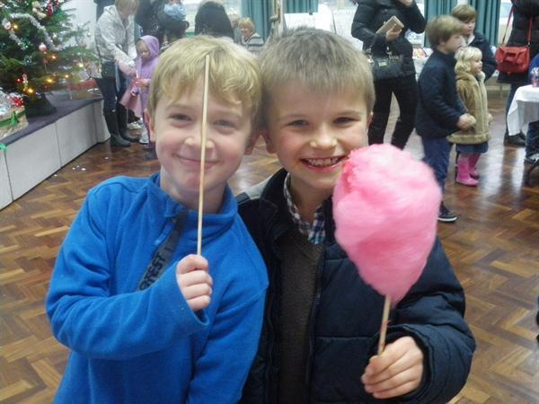 Yum! Candyfloss! Jude and Joel come back to school