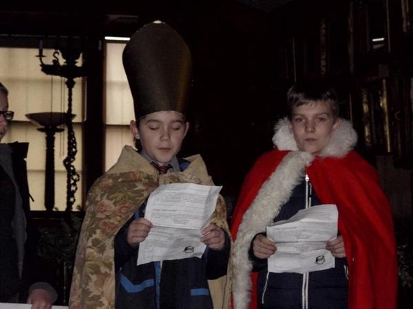 Bishop Nicholas Meets Santa Claus