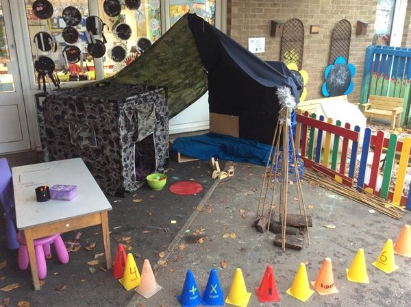 Our new outside role-play area