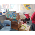 Making a house in the reading area