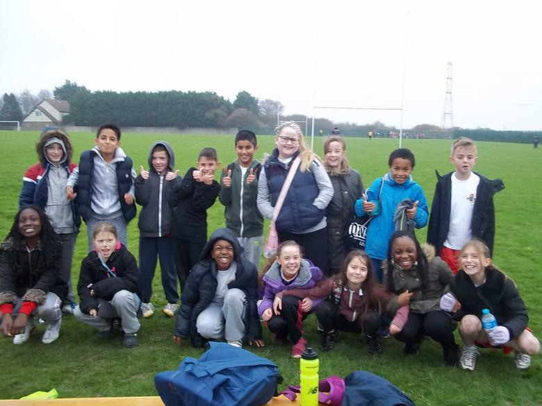 The year 5 cross country team