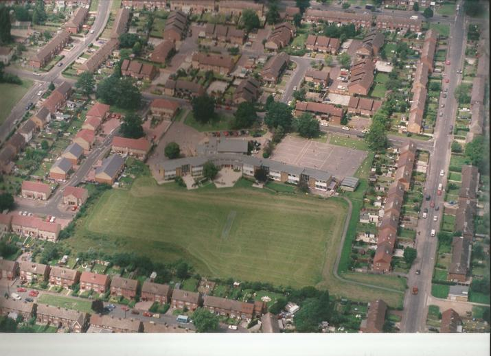 Aerial photo showing Hereward in the 1980s.