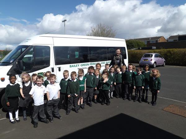 Reception have a look at the new minibus!