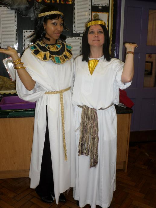 Cleopatra and Nefertiti.