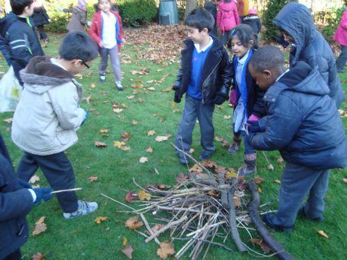 We built a bonfire outside!