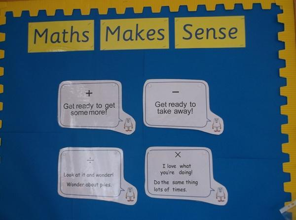 Numeracy - sayings for the 4 operations