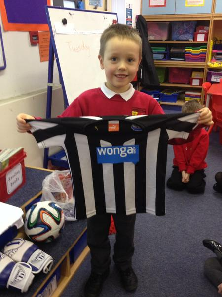 We learned about Newcastle United-the magpies!