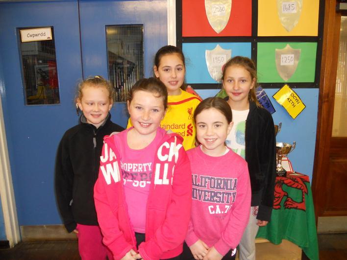 Year 6 girls cross country team