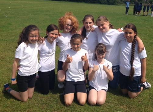 Our year 5 & 6 girls cricket team (won 2, lost 2)
