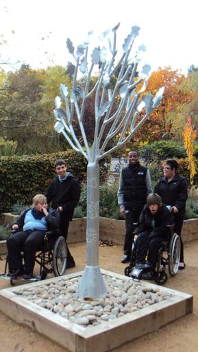 Pupils helped to make sculpture.Telford Town Park
