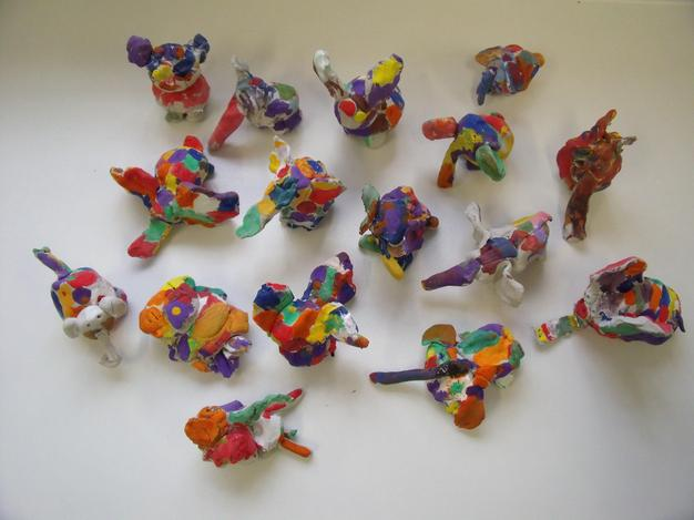 Our clay elephants