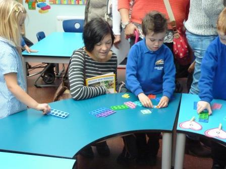 Numicon is a colourful tool for learning maths.