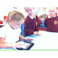 Creating a comic strip using the iPad.