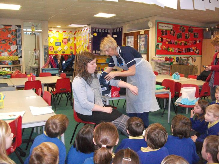 Mrs Lowe had her blood pressure checked.