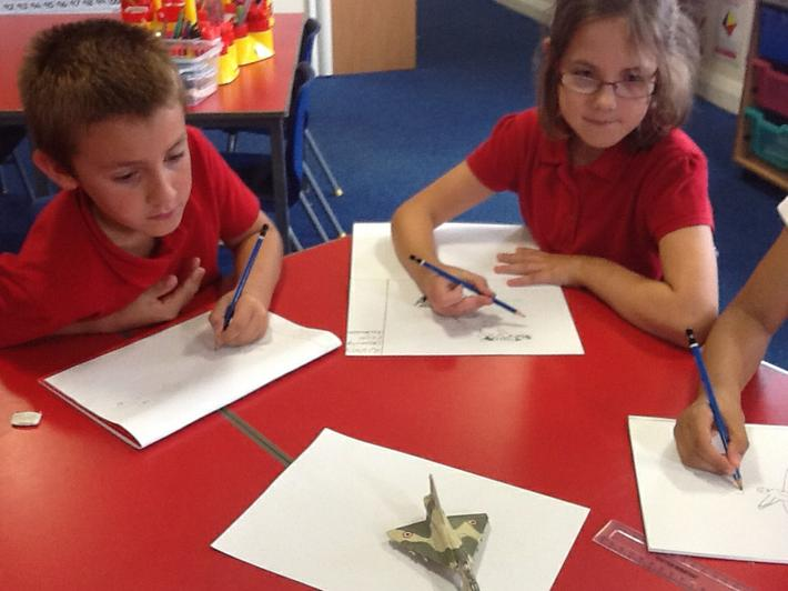 We used various types of drawing pencils.