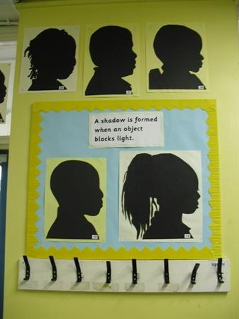 We created silhouettes from our shadows.