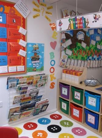 We love books - our reading corner