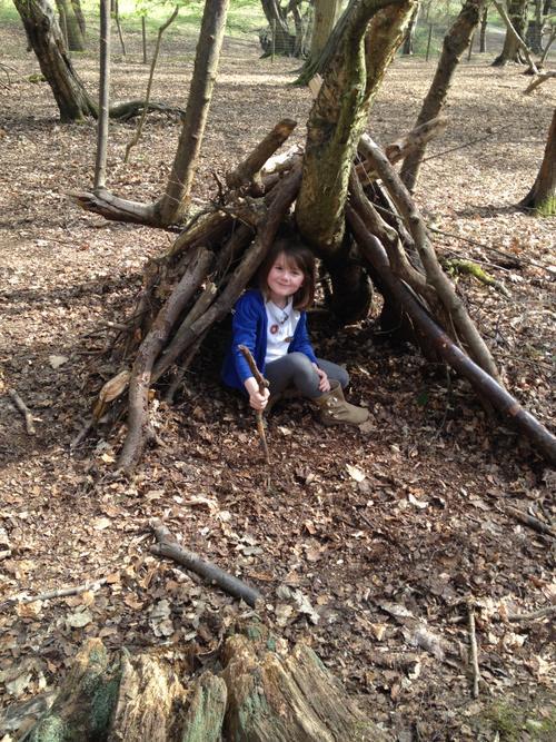Natalie was hiding in her den.