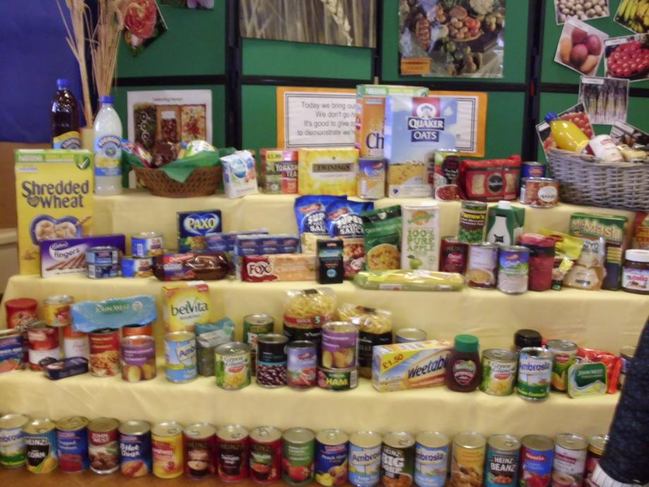 Harvest produce  for the Whitchurch Food Bank