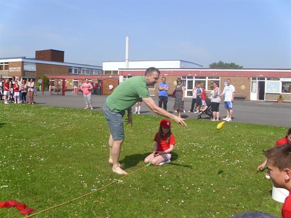 Parents Obstacle Race-We Won...MRS EVANS!!