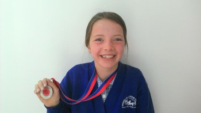 Isobel - 2nd in Canoeing Race!