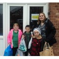 We took our collection to Elim Food Bank.