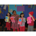 Showing our wind up clocks in assembly 2009-2010