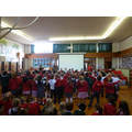 Year one sang Dingle Dangle Scarecrow.