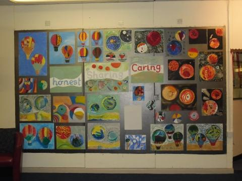 The finished product! Our children's artwork