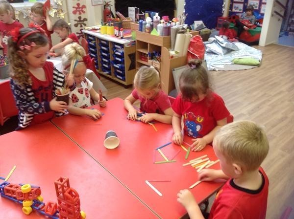 Getting creative with lollipop sticks!